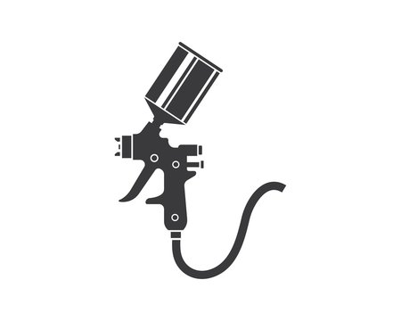 spray gun paint logo icon vector illustration