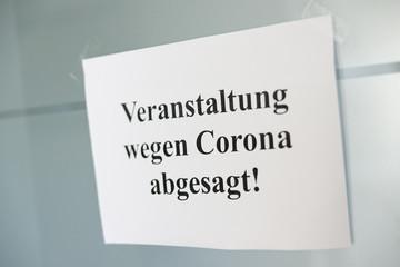 Keuken foto achterwand Wanddecoratie met eigen foto Symbolbild Veranstaltung wegen Corona abgesagt