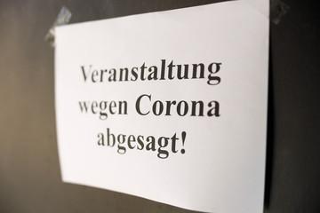 Door stickers Asia Country Symbolbild Veranstaltung wegen Corona abgesagt
