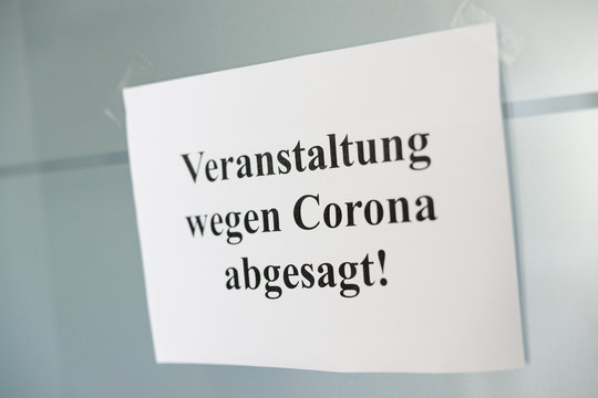 Symbolbild Veranstaltung wegen Corona abgesagt
