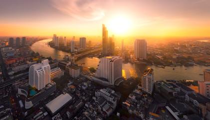 Fotobehang Bangkok sunlight bangkok city
