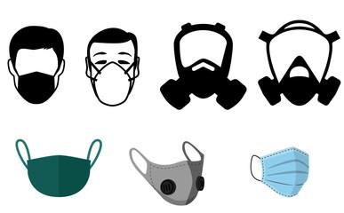 Face masks gas mask wirus bakteria anti