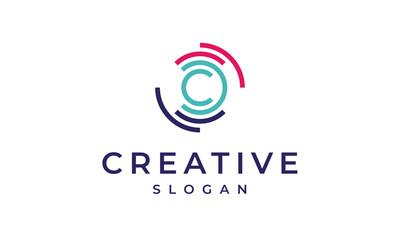 Circular Letter C Logo