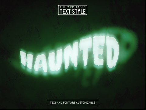 Ghost spooky plasma smoke editable text effect