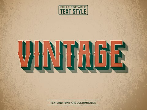 3D vintage old school on old paper text effect