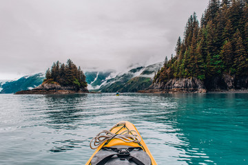 Adventure Kayak Tour in Tracy Arm Alaska at Dawes Glacier, Seward