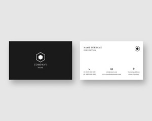 Minimal business card vector template. Minimalism design. Vector illustration.