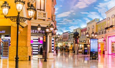 Interior of Villaggio Mall in Doha, Qatar