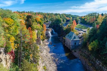 Beautiful Ausable Chasm in upstate New York during Spring time New York USA