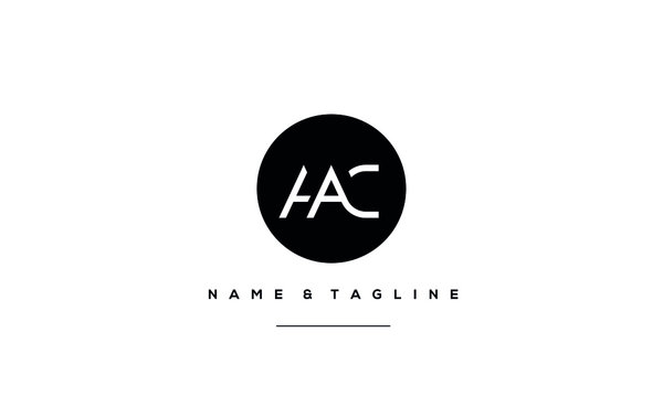 Alphabet letter icon logo HAC