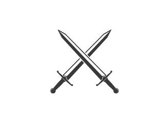 sword logo icon vector illustration design