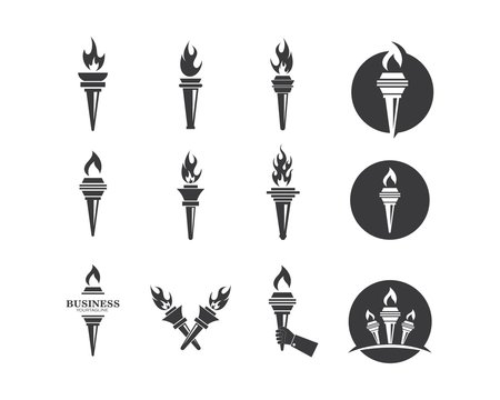burning torch illustration vector