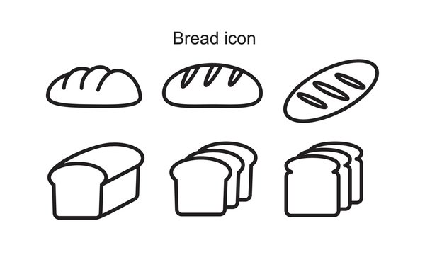 Bread Icon template black color editable. Bread Icon symbol Flat vector illustration for graphic and web design.
