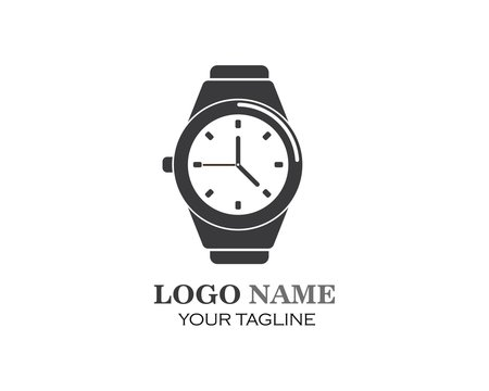 wristwatch icon vector template design
