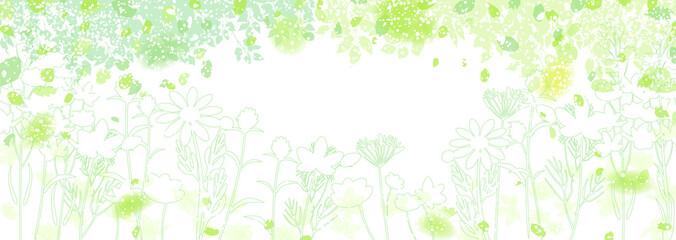 Fototapeta 新緑と草花