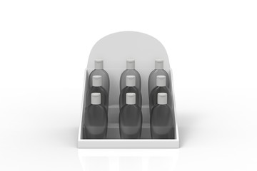 Wall Mural - set of clear hand sanitizer in a clear bottle isolated on a white background. Hand sanitizer is used for killing germs, bacteria and viruses. 3d illustration
