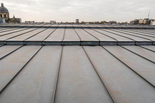 an zinc roof