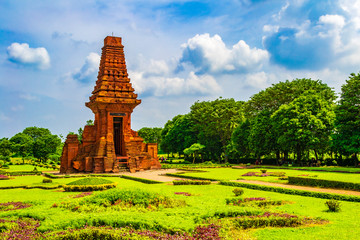Bajang Ratu temple is one of the relics of the Majapahit kingdom at Trowulan, Mojokerto, Indonesia