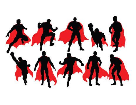 Superhero Activity Silhouettes, art vector design