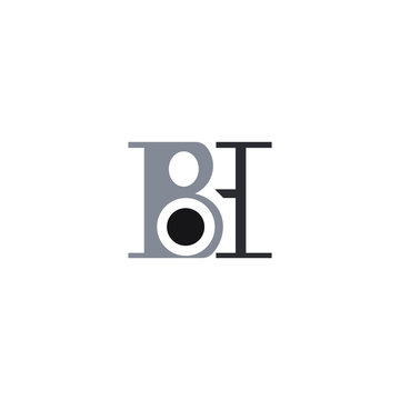 Initial letter bh or hb logo design template
