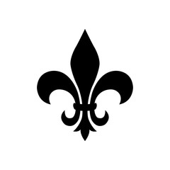 fleur de lis - ornament icon vector design template