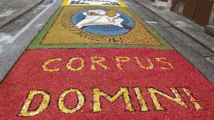 the infiorata of corpus domini - The Solemnity of the Most Holy Body and Blood of Christ