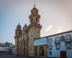 Mondonedo (Mondoñedo) cathedral , on the way of St. James, Galicia, Spain