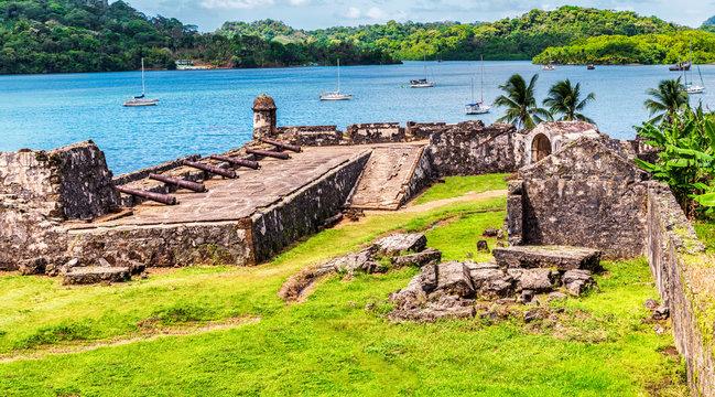 UNESCO World Heritage Site Fort San Jeronimo located in Portobelo, Panama.