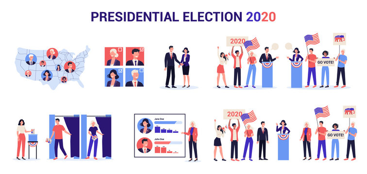2020 presidential election in the USA set. Election campaign