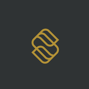 Royal Letter S Logo Design With Line Style