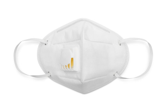 N95 mask for protection pm 2.5 and corona virus isolated on white with clipping path, Medical mask protection against pollution, virus, flu, coughing and coronavirus.