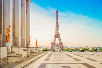 Poster Eiffeltoren eiffel tour and from Trocadero, Paris
