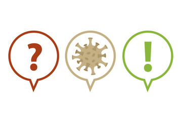 question and answer faq virus info graphic vector illustration EPS10