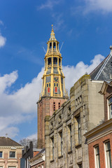 Fotomurales - Tower of the historic Der Aa church in Groningen, Netherlands