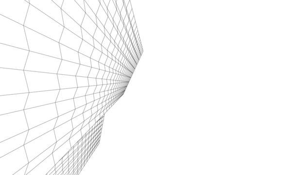 architecture building vector 3d illustration
