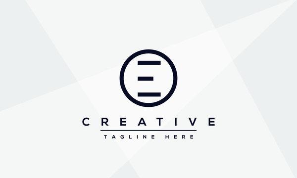 Modern unique creative letter E logo design, Minimalist E initial based vector icon.