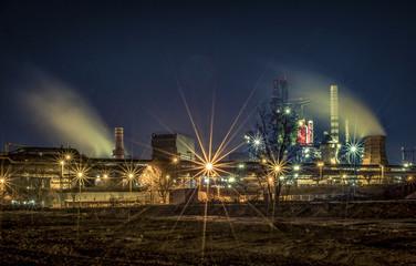 Lamgzeitbelichtung Ruhrgebiet abends Fototapete