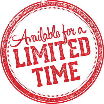 Limited Time Offer Rubber Stamp