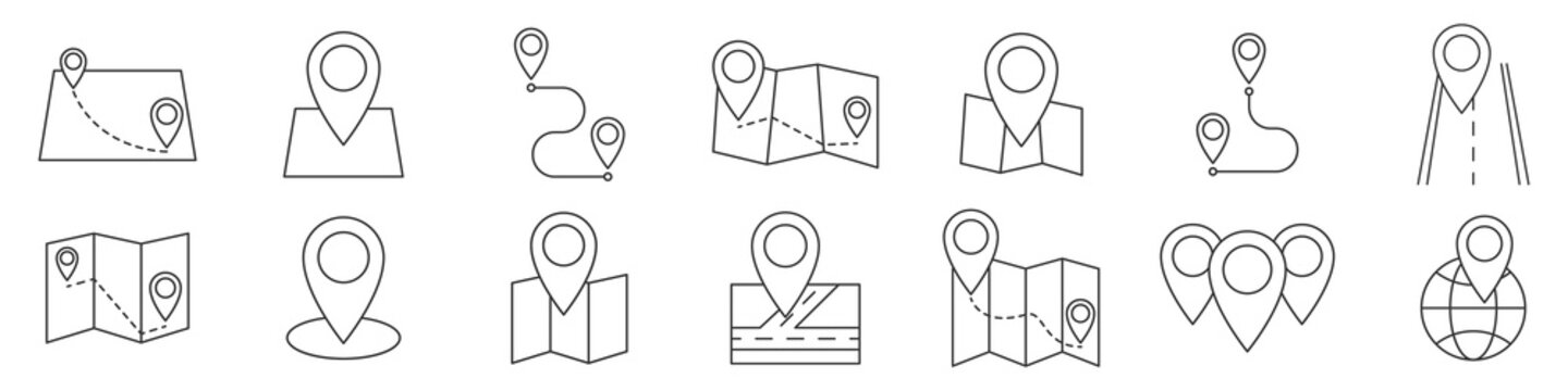 Map icon. Location icon. GPS. Vector illustration.