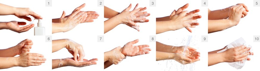 Step By Step Correct Procedure For Hand Washing