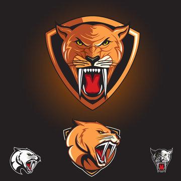 Saber tooth Cat, Smilodon logo
