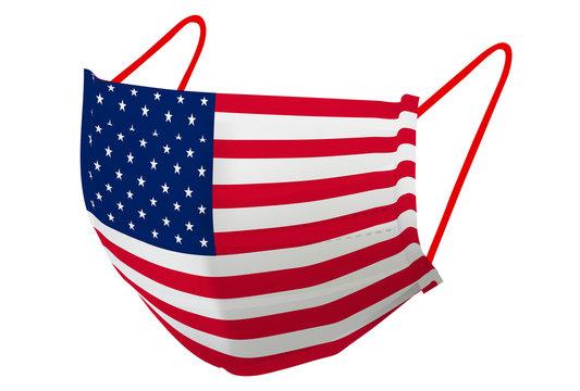 アメリカ マスク  国旗 アイコン