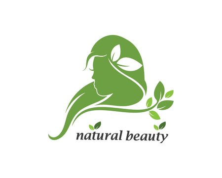 natural beauty woman vector illustration template