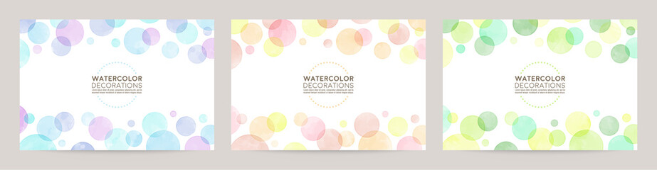 watercolor vector colorful bubble frames Fotomurales