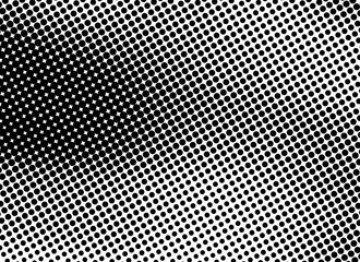 Halftone Fading Dots Black and White Gradient Background. Gradient Halftone Dots Background. Pop Art Template, Texture. Monochrome Round Black Dots. Pop Art Dotted Spherical Comic Background Overlay