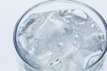 sparkling water with ice