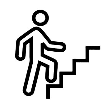 Climbing Stairs Vector or Illustration
