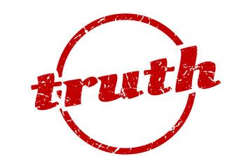 truth sign. truth round vintage grunge stamp. truth