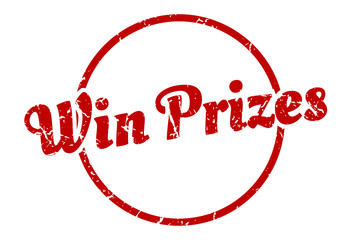 win prizes sign. win prizes round vintage grunge stamp. win prizes