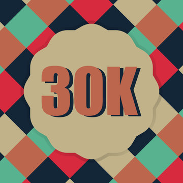 30k followers with retro style